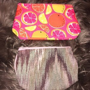 Clinique and Mary Kay cosmetic bags